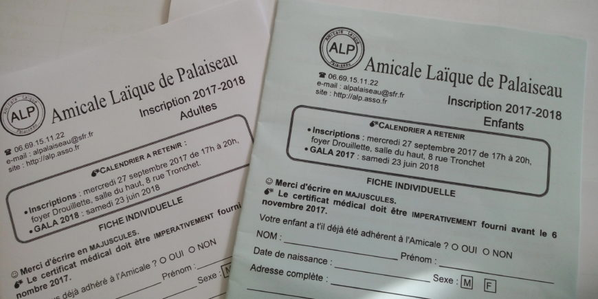 Inscription 2017-2018